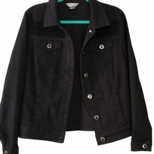 Christopher & Banks Black Filigree Jacket